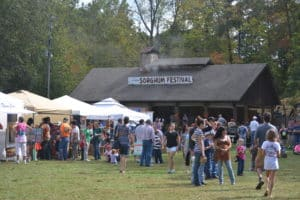 Photo of the crowds at the Sorghum Festival.